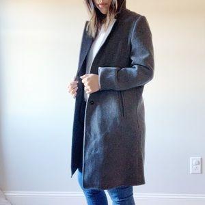 Zara Dark Grey Classic Coat